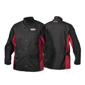 Split Leather Sleeved Welding Jacket K2986- (avail. in M,-L,-XL,-XXL,-XXXL, -5XL)  *Size must be indicated*