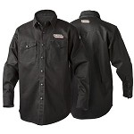 Black flame retardant welding shirt K3113- (avail. in -M,-L,-XL,-2XL)  *Size must be indicated*